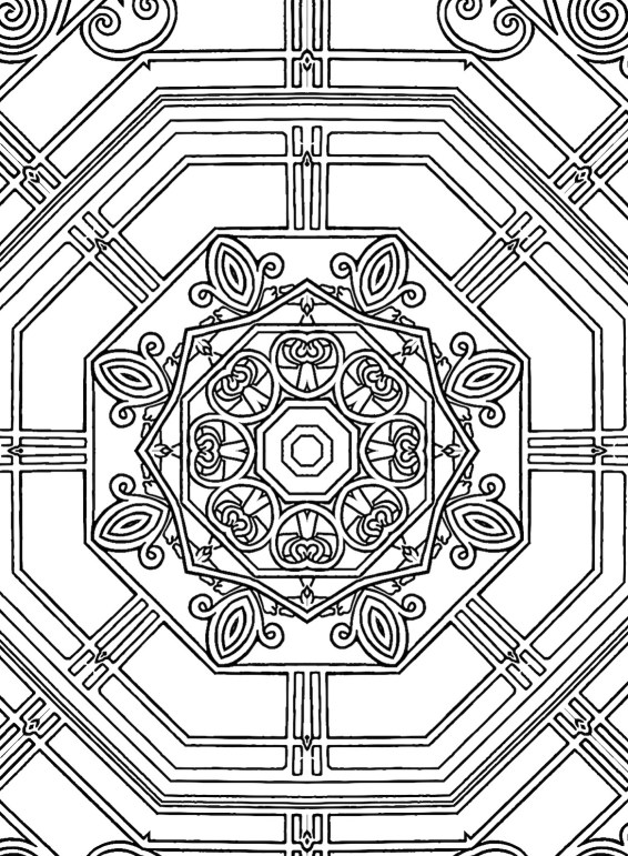 99 sample geometric coloring page.