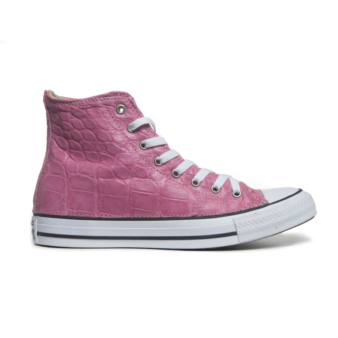 outlet store 2fe2d c52c8 Wild Alligator Converse® pink high-top Chuck Taylor All Stars sneakers