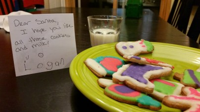 Our cookies for Santa (who we're pretty sure is not on the GAPS diet)