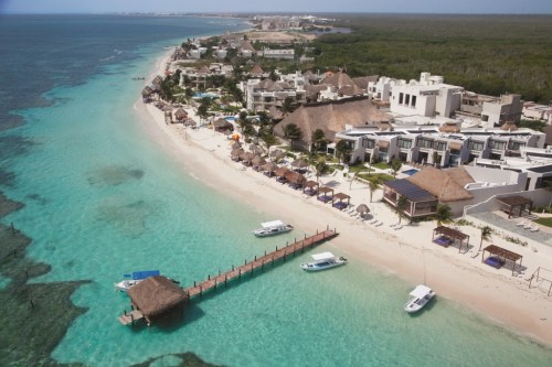 Azul Beach Hotel aerial view
