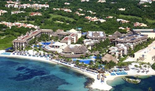 Catalonia Riviera Maya and Yucatan Beach aerial view