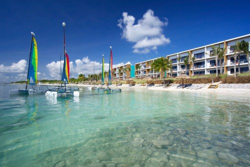 Club Med Cancun Yucatan sailing beach