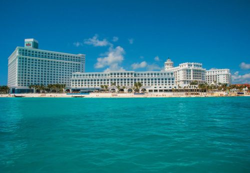 Riu Cancun view from the water