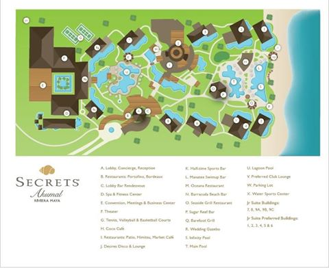 Secrets Akumal resort map