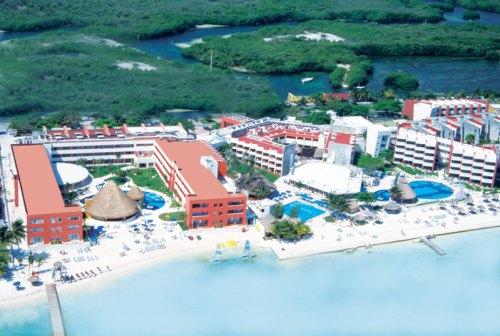 Temptation Resort Spa Cancun aerial view