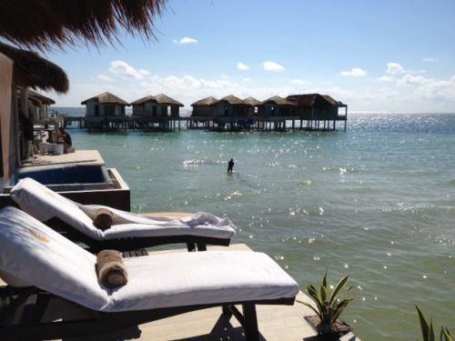 El Dorado Maroma Overwater Palafitos terrace area