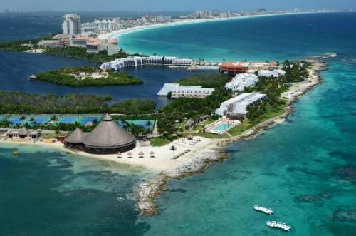 Club Med Cancun Yucatan aerial view