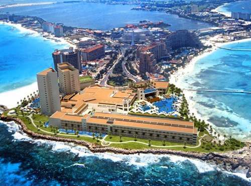 Hyatt Ziva Cancun aerial view