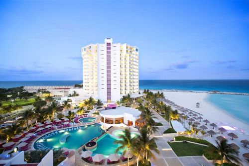 Krystal Grand Punta Cancun aerial view