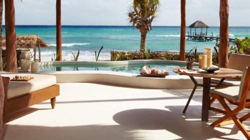 Viceroy Riviera Maya beachfront villa terrace