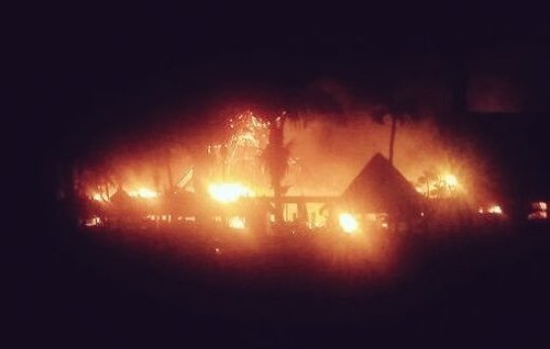 Grand Bahia Principe Tulum lobby fire