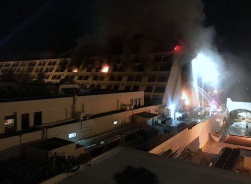 Grand Oasis Cancun fire