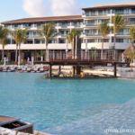 Dreams Playa Mujeres beachfront infinity pool swim-up bar