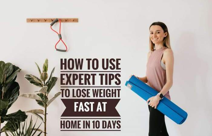Weight Lose fast at home