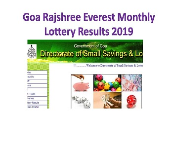 Goa Rajshree Everest Monthly Lottery Results 11-09-2019