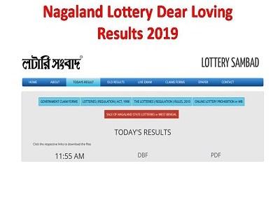 Nagaland State Lotteries Dear Loving / Respect Sikkim