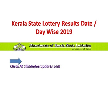 Kerala Lottery Results Today Live 2019 Guessing Number