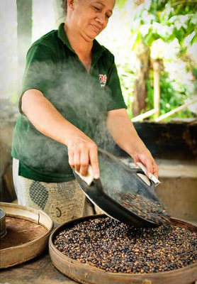 Coffee roasting @ Agro Plantation, Bali