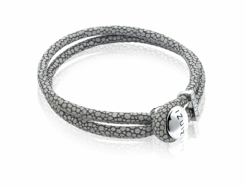 Zinzi Grey Double Leather Bracelet Zia846g, Bracelets