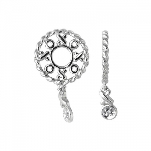 Storywheels Silver & Diamond Hug And Kisses Dangle Charm