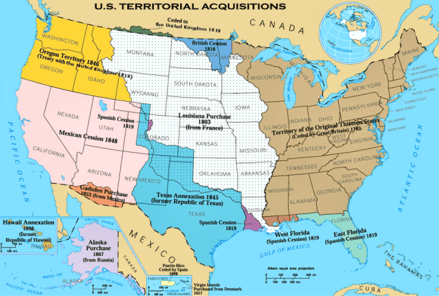 A Map U.S. Territorial Acquisitions