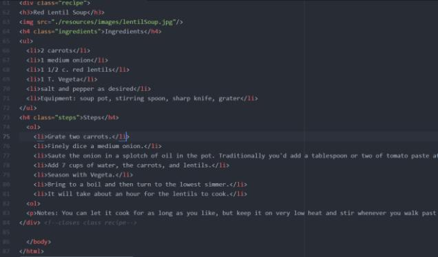 coding example
