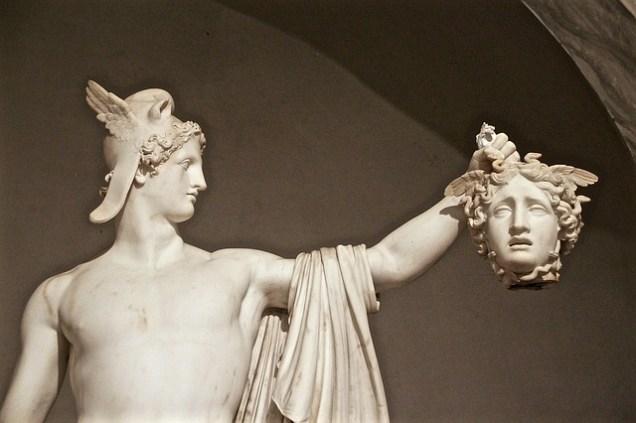 Statue of Medusa's head chopped off