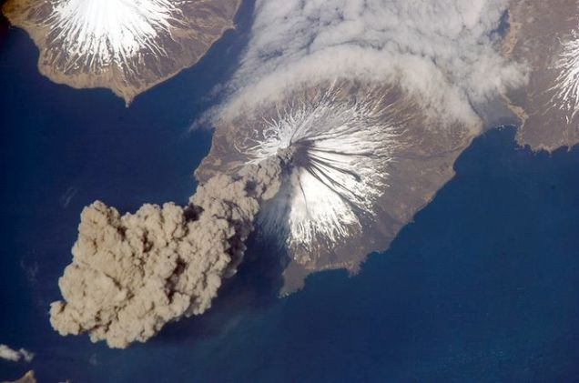 Cleveland Volcano in the Aleutian Islands of Alaska