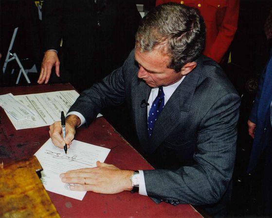 George W. Bush in Concord, New Hampshire