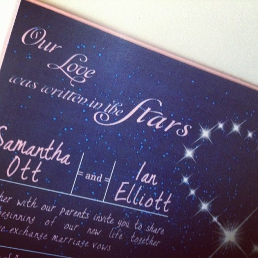 A dreamy evening sky inspired wedding invitation heading out the door today! #allintheinvite #wedding #weddinginvitation #starrynightsky