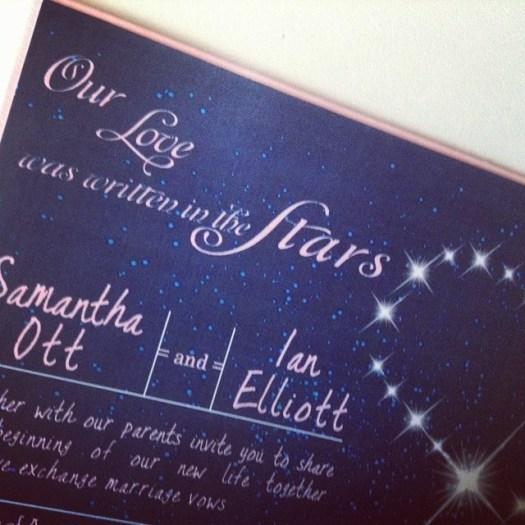 A dreamy evening sky inspired wedding invitation heading out the door today! #allintheinvite #wedding #weddinginvitation #starrynightsky