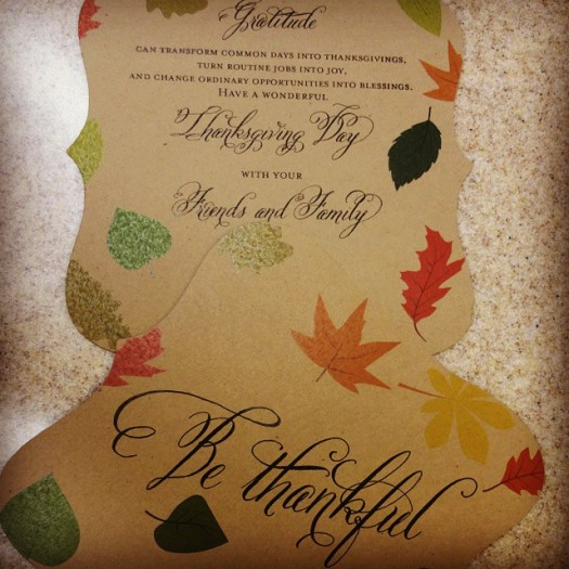Simply lovely Thanksgiving cards! I love how they turned out & so did my client! #allintheinvite #thankful #thanksgiving