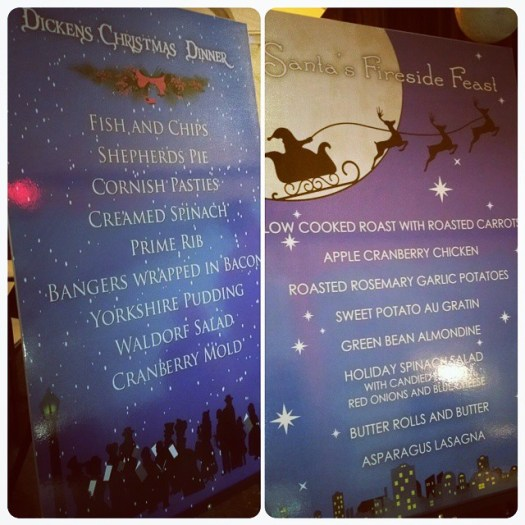 Christmas parties everywhere! Fun menu signs! #allintheinvite
