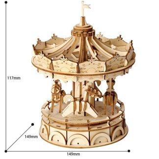 Maquette en bois Carrousel