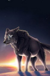 wolf fantasy anime iphone wallpapers hd backgrounds cartoon alliphonewallpapers