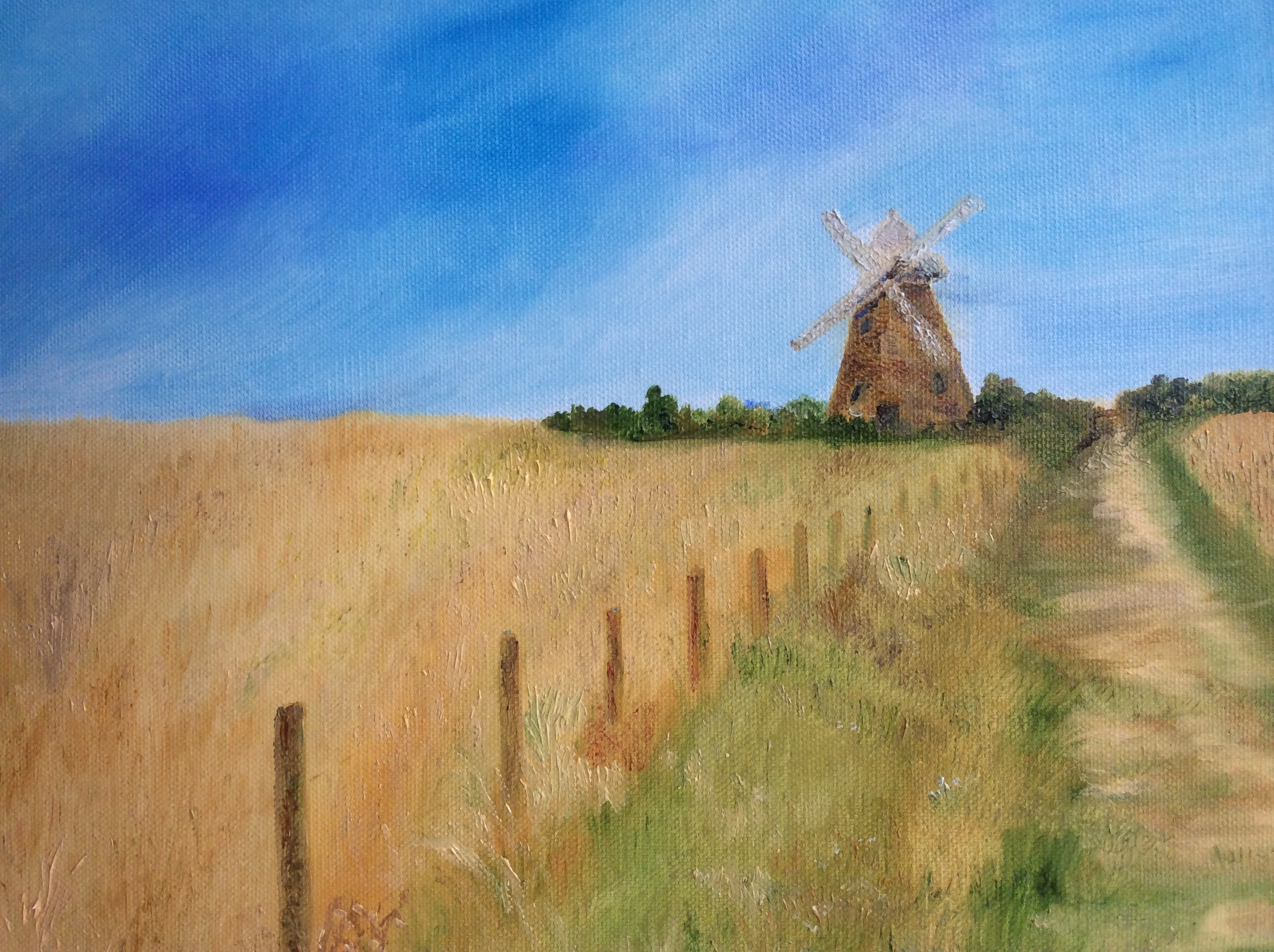 To sell and bring you the sway of the grasses of late Summer and the iconic Downs windmills.