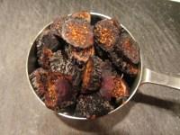 Sliced dried figs.