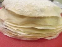 Finished crepe cake.