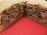 Layers of Alton's crepe cake.