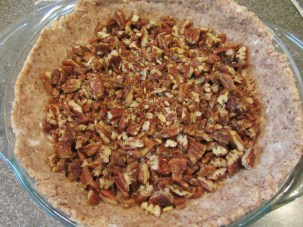 Chopped spiced pecans added to crust.