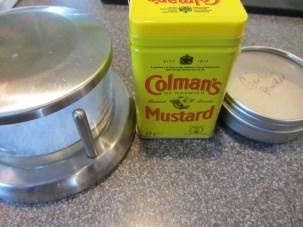 Kosher salt, dry mustard, and garlic powder.