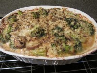 Casserole after baking for 45 minutes.