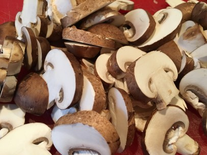 12 ounces of sliced mushrooms.