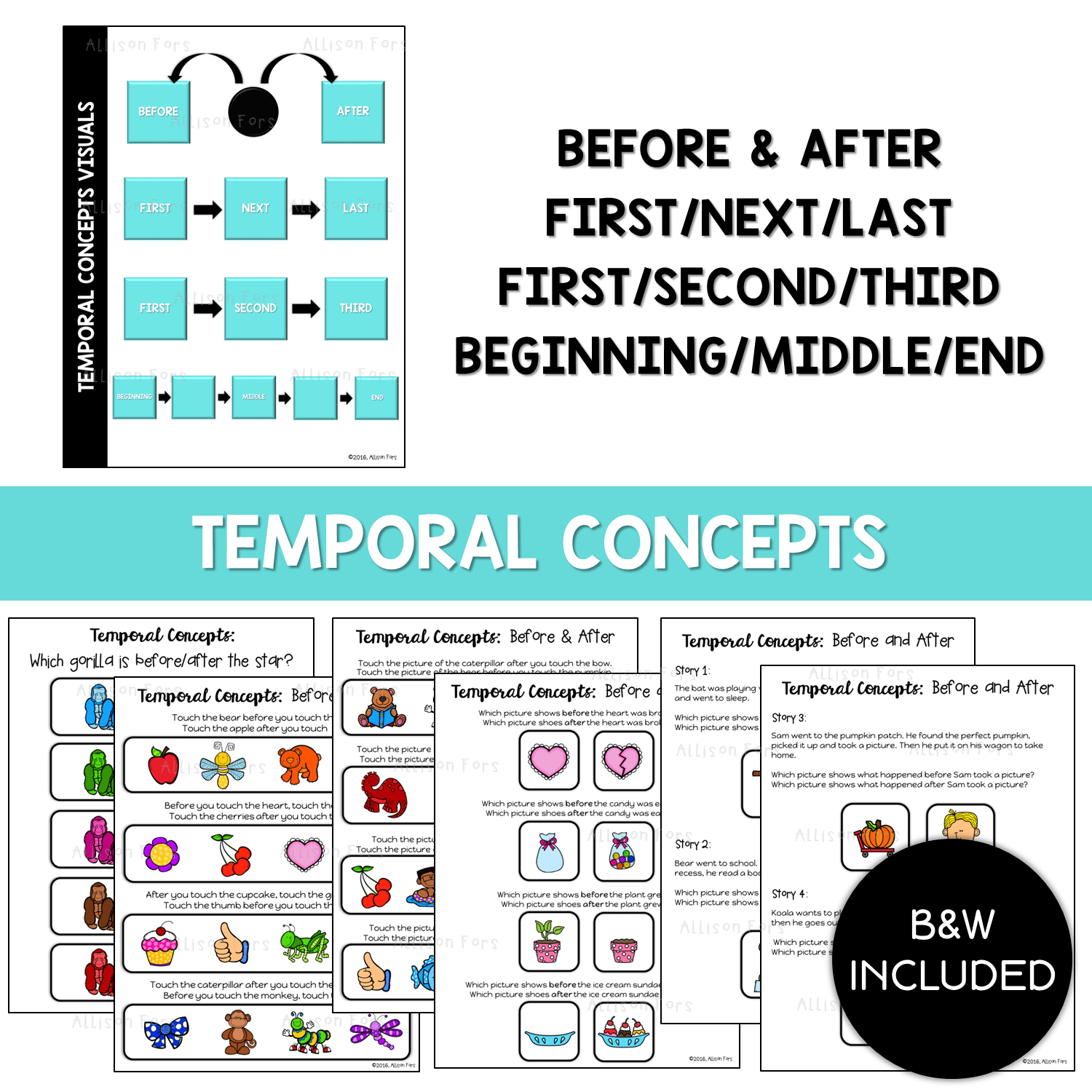 Basic Concepts Temporal Concepts No Prep