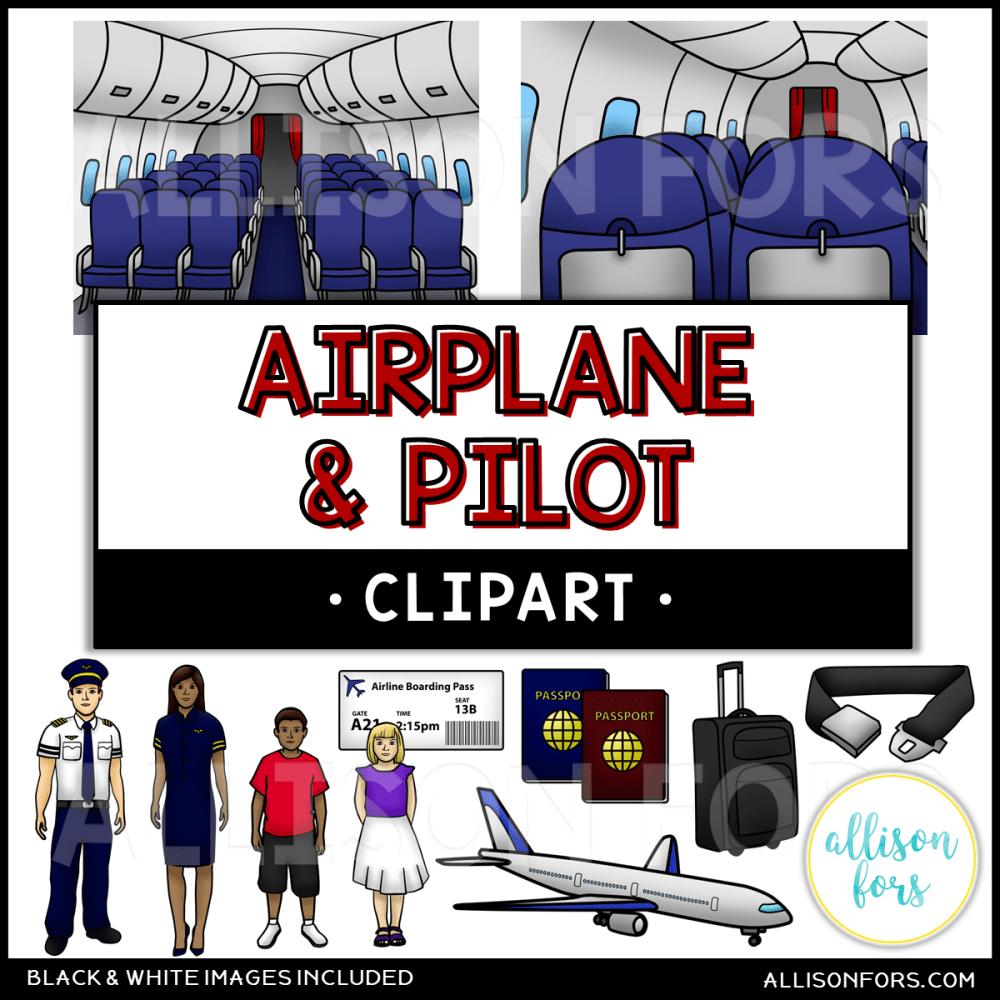 medium resolution of community helpers airplane pilot clip art
