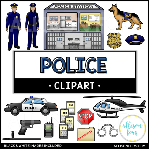 small resolution of community helpers police clip art