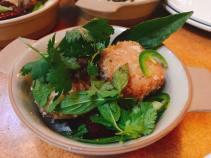 pork belly stone fruit salad 7/14