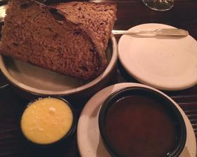 Bread from Heirloom Wheat with Butter and Pan Drippings