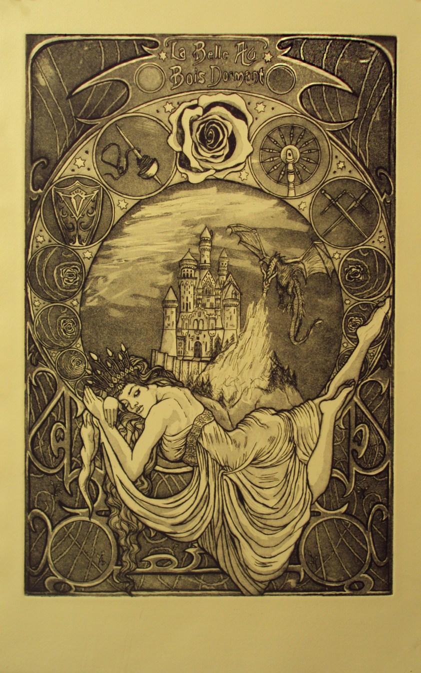 Art Nouveau Allison Kittredge Illustration
