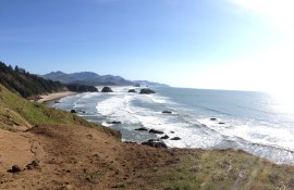 The iconic Haystack Rock view